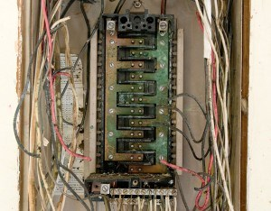 Old Electrical Panel Requiring Upgrade