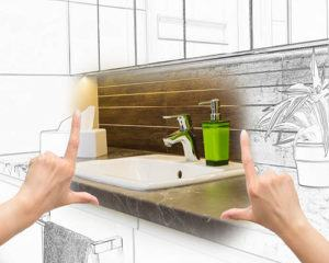 bathroom remodel layout plan with dimensions image