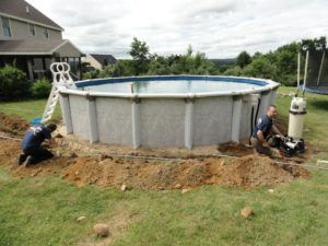 Hot Tub being wired and lined